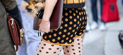 Polka dots in street style fashion